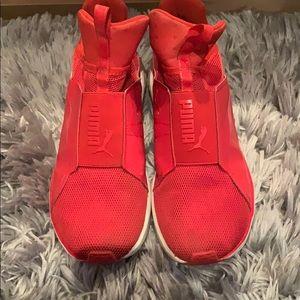 Puma red women's sneakers